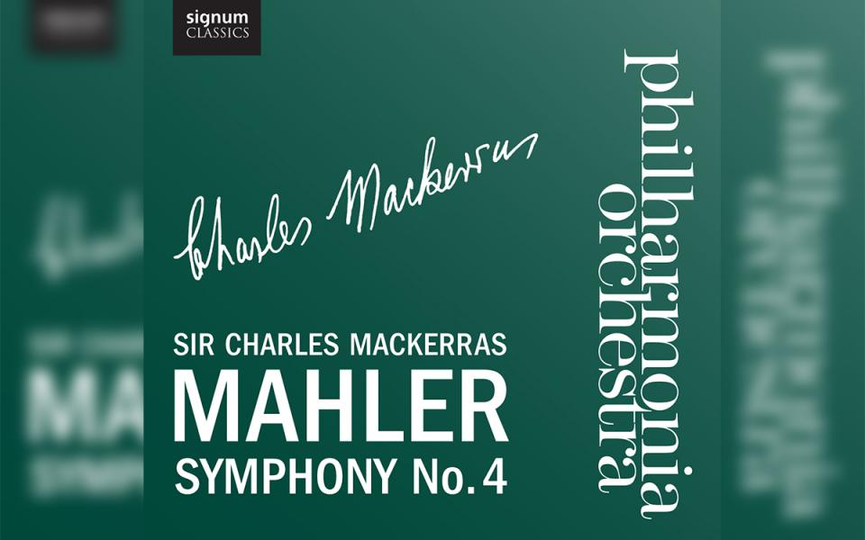 Philharmonia Mahler 4 CD cover