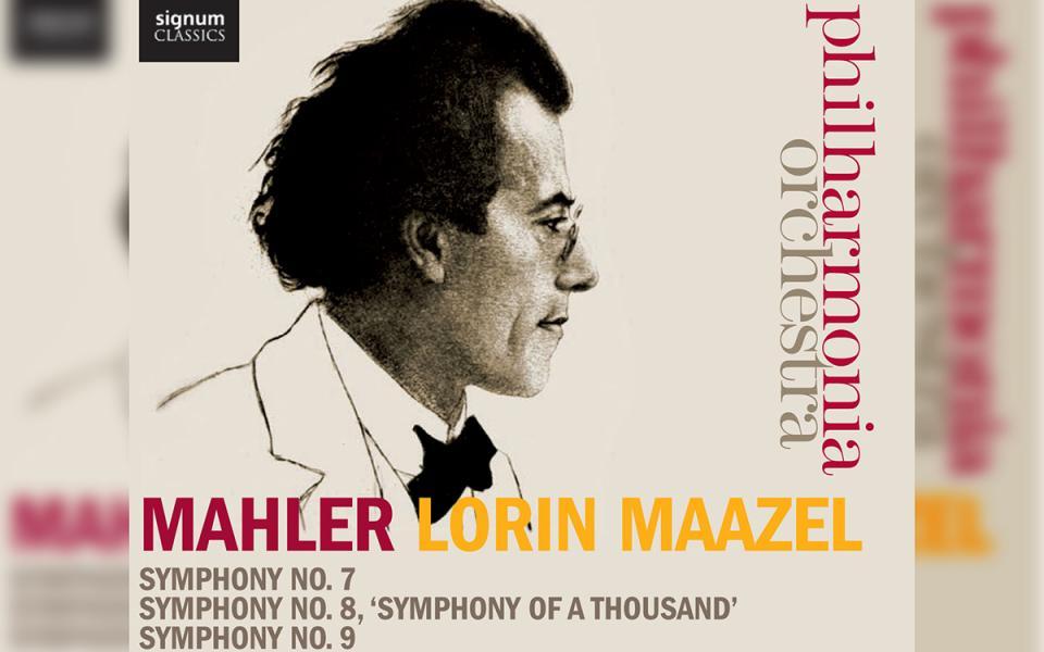 Philharmonia Mahler Symponies 7, 8, 9 CD cover