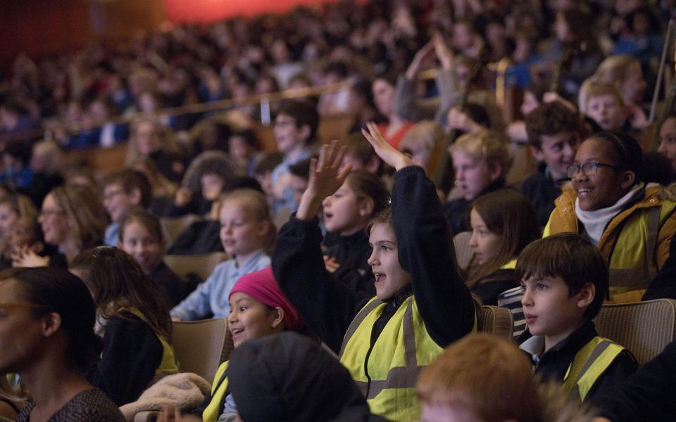 Children watching a concert