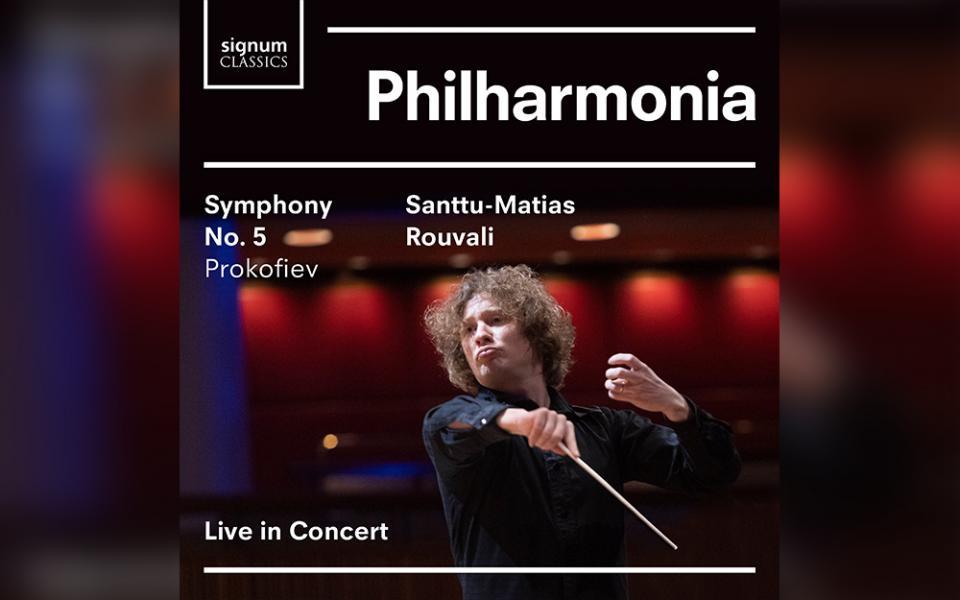 Album cover of Prokofiev Symphony No. 5 recording with Rouvali