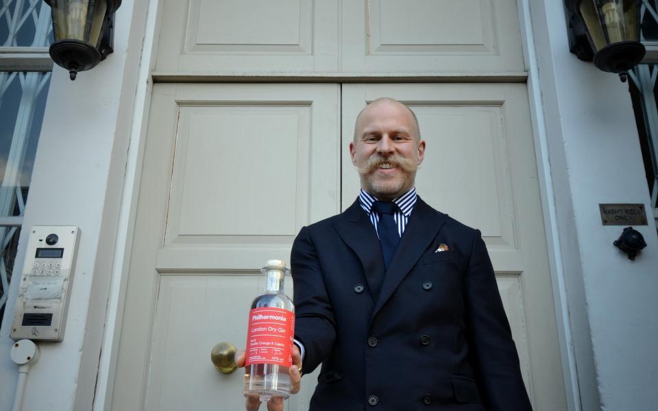 Wardington's Original founder Shaun Ward with Philharmonia Gin
